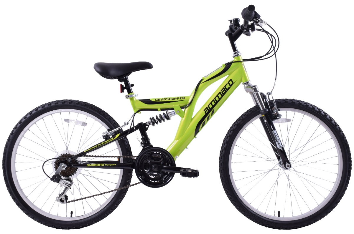 Ammaco Grasshopper 24inch Dual Suspension Green