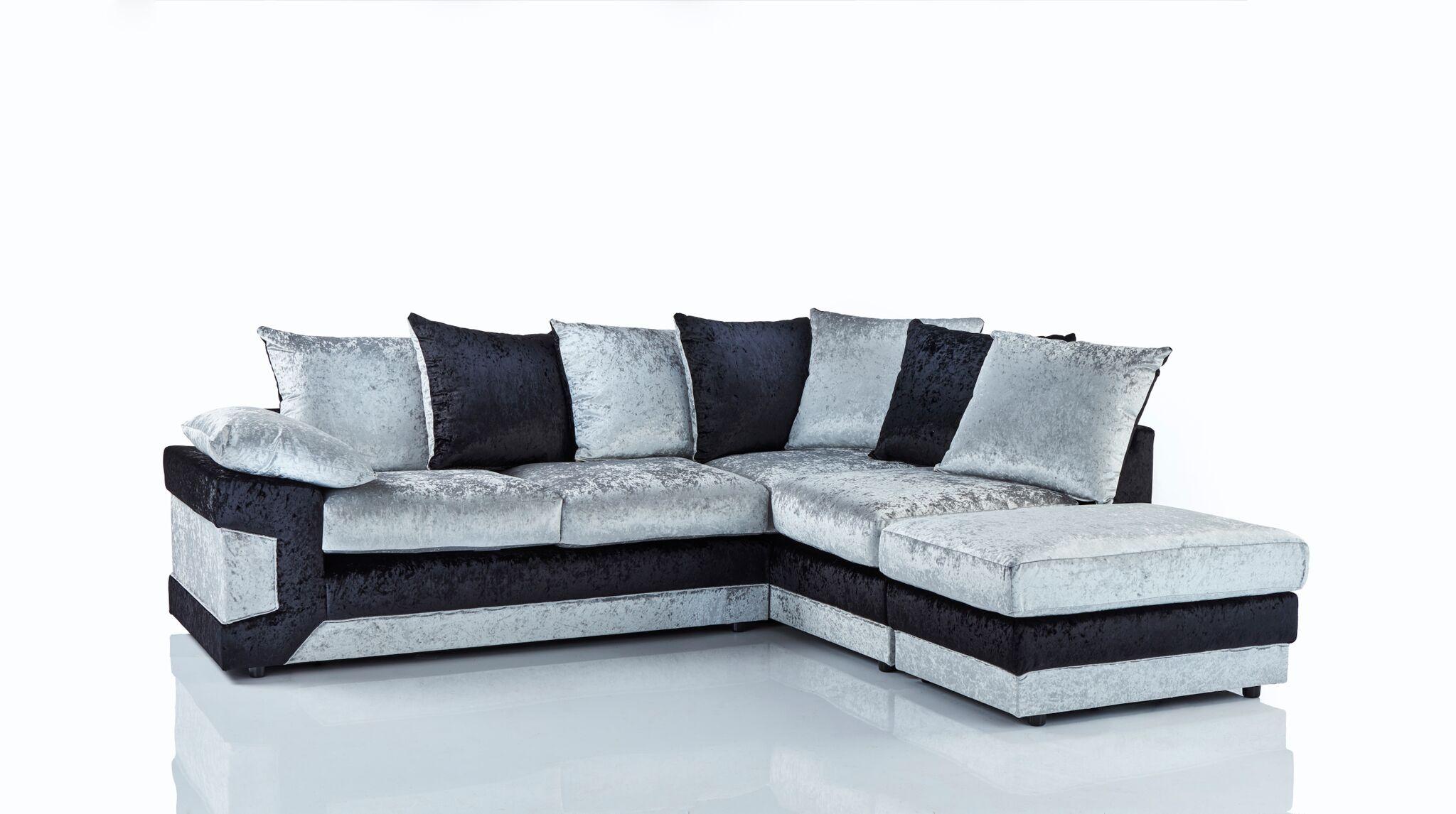 Dino Crushed Velvet Corner Sofa