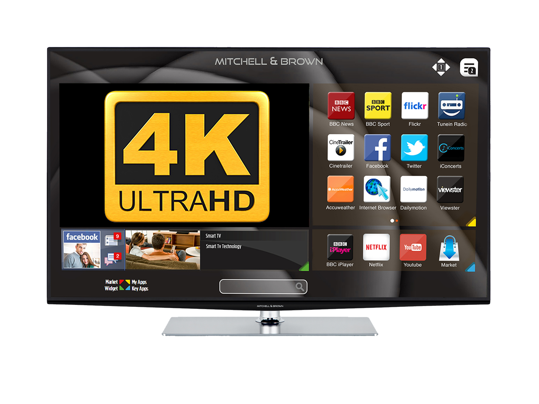 Mitchell and Brown 49inch Ultra HD 4K Smart TV
